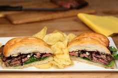 Balsamic and Blue Cheese Steak Sandwich from the National Beef Cookoff — Creative Culinary - Food & Cocktail Recipes - Denver, Colorado