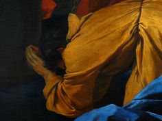 "POUSSIN Nicolas,1629-30 - Apparition de la Vierge à Saint Jacques Le Majeur (Louvre) - Detail 41 -TAGS / details détail détails detalles ""peinture 17e"" ""17th-century paintings"" ""French paintings"" ""peinture française"" jeune femme woman young man men hommes tête heads head people boy ""little boy"" garçon enfant kid kids child children naked nue nude female amour amours putti love bare ange angel angels Virgin Bible Jack elde"