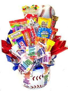 images for candy bouquets | Baseball Candy Bouquet