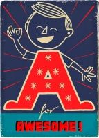 awesome vintage looking alphabet prints created by paul thurlby. click through to see them all!