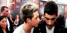 When he kissed Zayn on the cheek and you could hear the sound of angels crying softly in the distance. | 30 Times Niall Horan Was The Most Perfect Member Of One Direction In 2013