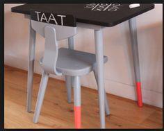 fluorescent dip dye chair legs