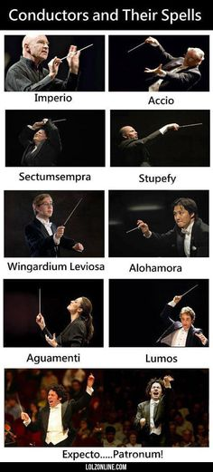 Music Conductors And Their Spells #lol #haha #funny