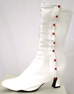 6dfae3caa Mary Poppins Jolly Holiday White Spats boot covers pink buttons ...