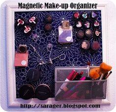 Magnetic Make- up Organizer