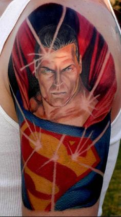 #3 Superman - Top 15 Superhero Tattoos: http://www.tattoos.net/articles/tattoos/top-superhero-and-comic-book-tattoos/