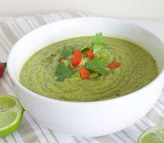 Creamy Broccoli and Avocado Soup Recipe on Yummly Detox Recipes, Soup Recipes, Dairy Free Recipes, Vegan Recipes, Vegan Meals, Gluten Free, Avocado Soup, Hot Soup, Detox Soup