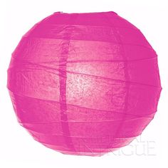 Hot Pink 10 Inch Round No Frills Paper Lantern (free-style ribbing) ($1.09) ❤ liked on Polyvore featuring home, home decor and paper lanterns