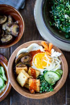 Vegetarian Korean Bibimbap Bowls - The Wanderlust Kitchen