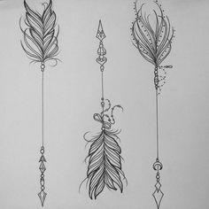 Resultado de imagen para tattoo flechas mujer