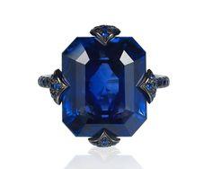 Bayco emerald-cut Ceylon sapphire ring #BrittsPick | JCK On Your Market