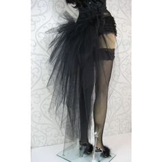 Black Burlesque Tutu Bustle (57 CAD) ❤ liked on Polyvore featuring skirts
