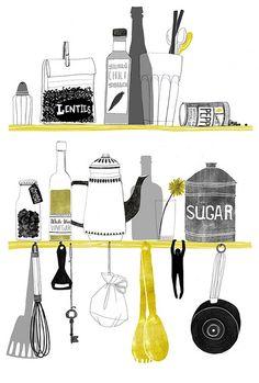 kitchen print   von Sidsel Sorensen