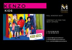 Color celebrations with KENZO KIDS FW 16/17 collection available for a pre order at Myriam Volterra - The Italian Buying Office for Fashion & Luxury Contact us to discover our exclusive discounts and offers!