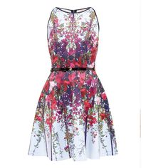 Ted Baker Bloomze Flower Lattice skater dress (€115) ❤ liked on Polyvore featuring dresses, vestidos, clearance, midnight blue, skater dresses, exposed zipper dress, border print dress, flower dress and print dress