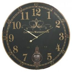 Cafe Des Marguerites French Parisian Extra Large Vintage Wall Clock (Black Face) - 23-in Moby Dick,http://www.amazon.com/dp/B00D4F274K/ref=cm_sw_r_pi_dp_uld.sb0NBJVDE121