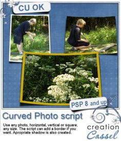 Curved photo - #PSP #script - You have certainly seen some templates where you can just pop in your #photo but looks like it is bent.
