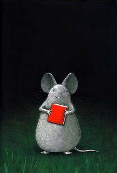 Un rat de bibliothèque, un vrai!