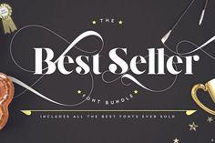 Best Seller Font Bundle from DesignBundles.net