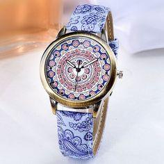 Fashion Mandala Pattern Classic Design Ladies Wrist Watch Women Quartz Watch at Banggood