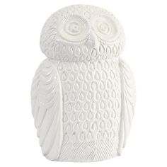 Ceramic owl statuette in white. Product: StatuetteConstruction Material: CeramicColor: White...