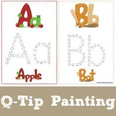 Q Tip Painting Alphabet Printables (FREE).