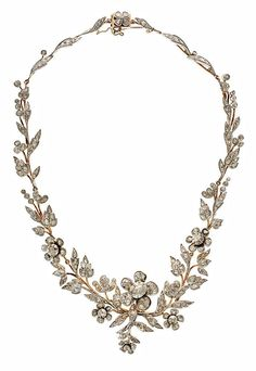 A vintage rose gold, silver and diamond necklace, by Luis Masriera, 1920-1930…