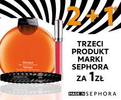 2 + 1 W SEPHORA!  Przy zakupie min. 2 produktów marki Sephora, trzeci najtańszy za 1 zł*  *Oferta promocyjna obowiązuje w dniach 04-13.03.2016 lub do wyczerpania zapasów. Dotyczy wyłącznie produktów marki Sephora. Trzeci, najtańszy produkt marki Sephora za 1 zł. Oferta nie łączy się z innymi promocjami i rabatami. O szczegóły oferty pytaj konsultanta.