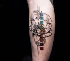 Flower tattoo by Koit Tattoo