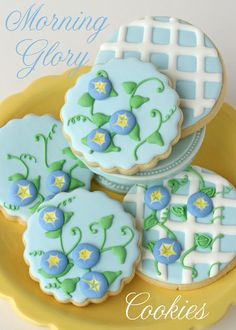 Preciosas galletas para tu fiesta primavera!/ Lovely cookies for your spring party!