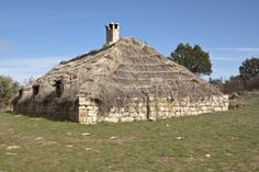 Thatched roof barn in Madonie mountains, Sicily