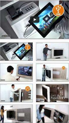 Vídeos de los muebles y paneles TV para el salón comedor