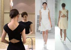 "Park Ha-Sun 박하선 in ""Temptation"" Episodes 10-11. Andy & Debb Spring 2014 Collection Dress #Kdrama #Temptation 유혹 #ParkHaSun"