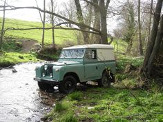 Land Rover 88 Series 2a in the creek