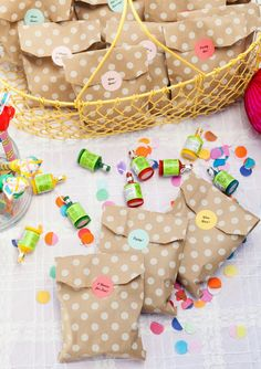 Confetti Birthday Party | Favors