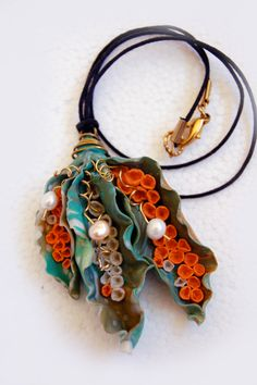 polymer clay and pearls