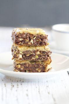Chocolate Baklava {recipe by Epicurean Mom}