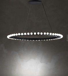 Home Design Ideas brings you an amazing selection of circular pendant lighting design ideas. Interior Lighting, Home Lighting, Modern Lighting, Lighting Design, Kitchen Lighting, Luminaire Vintage, Luminaire Design, Lamp Design, Light Fittings