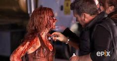 Looking for a simple halloween costume this year? If you're not afraid of a little blood, er, I mean ketchup or red paint, dress as the bloody prom queen, Carrie! Carrie 2013, Movie Halloween Costumes, Prom Queens, Hits Movie, Red Paint, Ketchup, Carry On, Tv Series, Blood