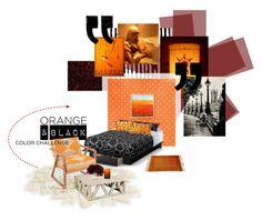 """tangled lantern"" by meadowbat ❤ liked on Polyvore featuring interior, interiors, interior design, home, home decor, interior decorating, South Shore, Luminara, orangeandblack and colorchallenge"