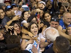 """Bernie Sanders doesn't think people """"were enthusiastic about the Clinton campaign"""""""