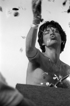 Mick | mick jagger | rolling stones | flower power | rock star | rock n roll | pout | hot lips