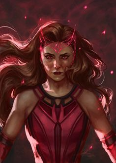 Wanda Marvel, Hq Marvel, Marvel Fan Art, Marvel Comics Art, Marvel Cinematic, Elizabeth Olsen, Scarlet Witch Comic, Avengers Art, Marvel Drawings