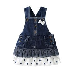 0-3 Year Children Girls Denim Dress Overalls 2016 Spring Autumn Style Kids Girl Jean Bow Straps High Quality Kids Clothes