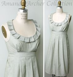 Bridesmaid Dress with pockets, Sage cotton, Made To Order (more colors available) by AmandaArcher on Etsy https://www.etsy.com/listing/165555077/bridesmaid-dress-with-pockets-sage