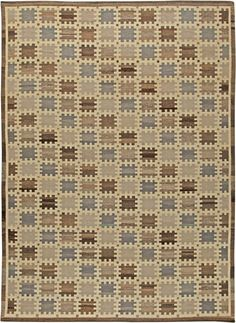 A Swedish flat weave rug N11145 by Doris Leslie Blau