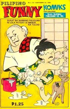 Funny Komiks Filipino Funny, Filipino Art, Filipino Fashion, Philippines Culture, Filipiniana, Old Advertisements, Magazines For Kids, My Childhood Memories, Vintage Comics