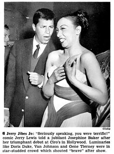 Jerry Lewis Kids Josephine Baker - Jet Magazine, May 22, 1952 by vieilles_annonces, via Flickr