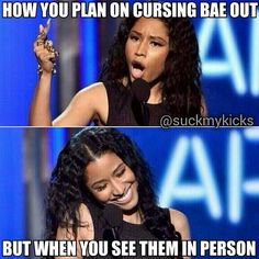 The struggle is real when it comes to bae lol.