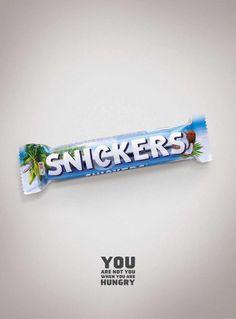 BBDO Russland verwandelt Snickers in einer Printkampagne andere berühmte Schokoriegel-Marken aus dem Hause Mars